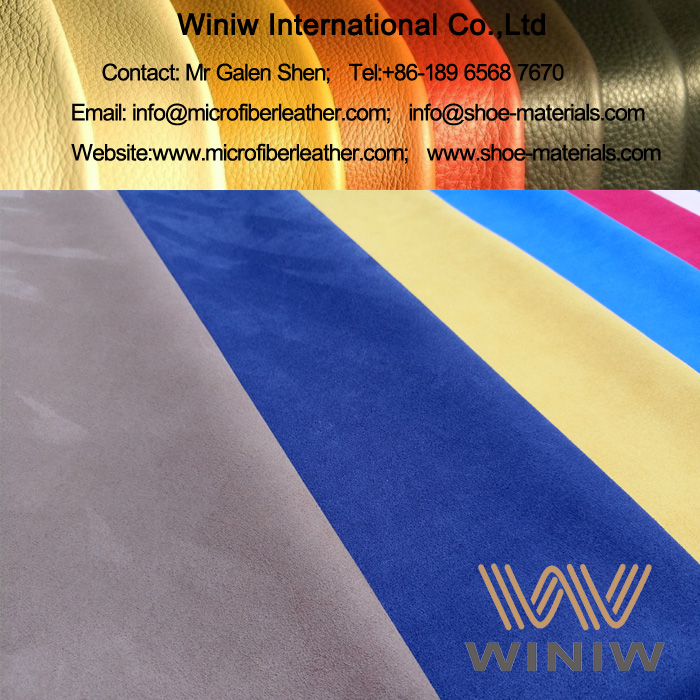 Microfiber Suede Leather Fabric for Garments