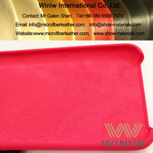 Microfiber Synthetic Suede Leather for Phone