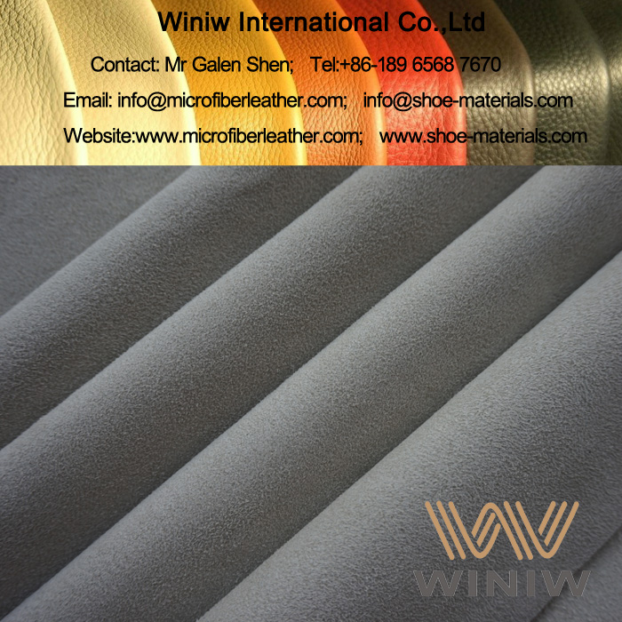 Synthetic Suede Leather Material for Running Shoes