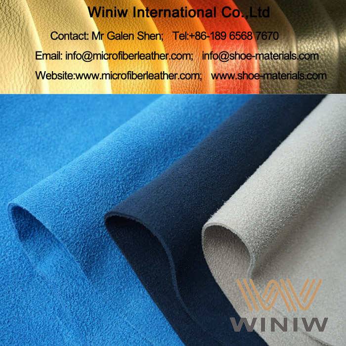 PU Suede Fabric Material for Shoes Upper