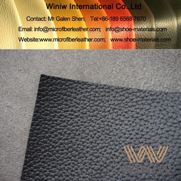 Lichee Microfiber Leather for Sofa Upholstery