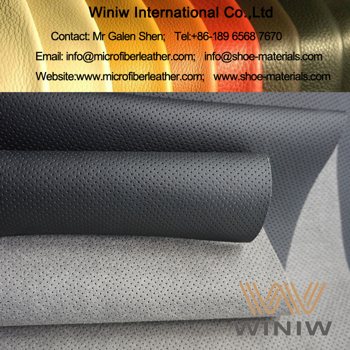 Perforated Microfiber Leather for Sofa Upholstery