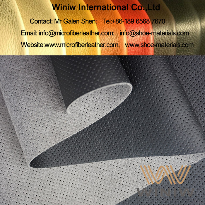 Perforated Microfiber Leather for Upholstery
