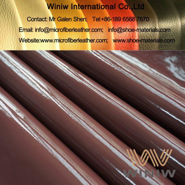 Microfiber Patent PU Leather