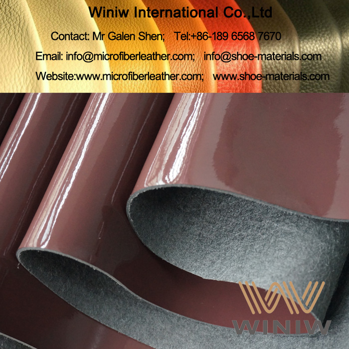 Microfiber Patent Leather for Shoes