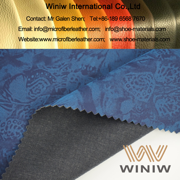 Stretch Faux Leather Fabric for Apparel