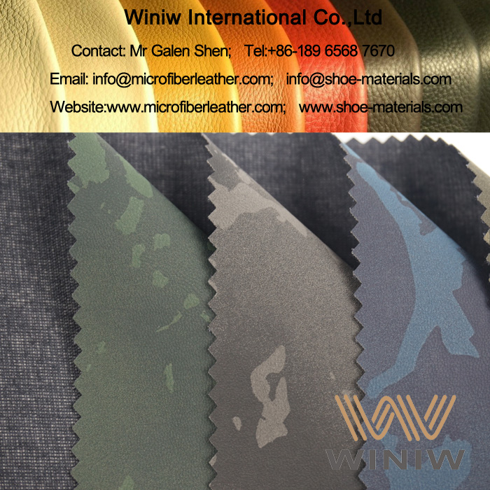 Fashion Printed PU Leather Fabric for Leather Shorts