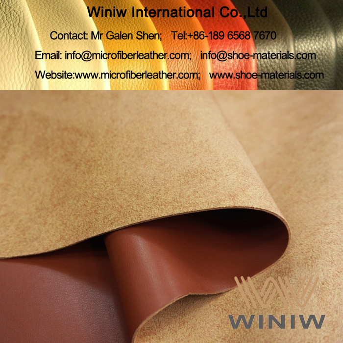 PU Coated Microfiber Material for Shoes Upper