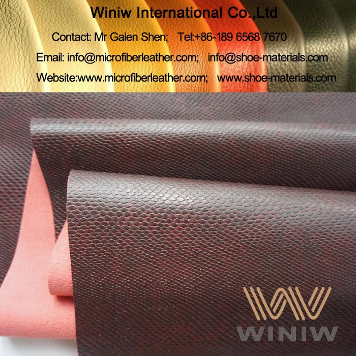 Python Print Microfiber PU Leather for Bags