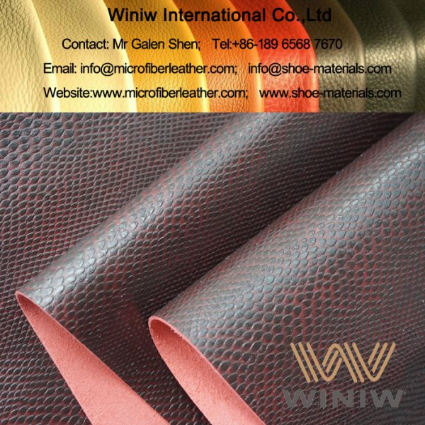 Python Print Microfiber PU Leather