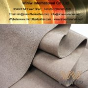 Pigskin Embossed Microfiber Synthetic Suede Leather