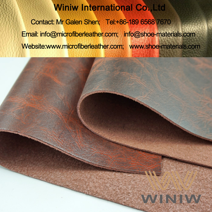 PU Microfiber Leather Upholstery Fabric