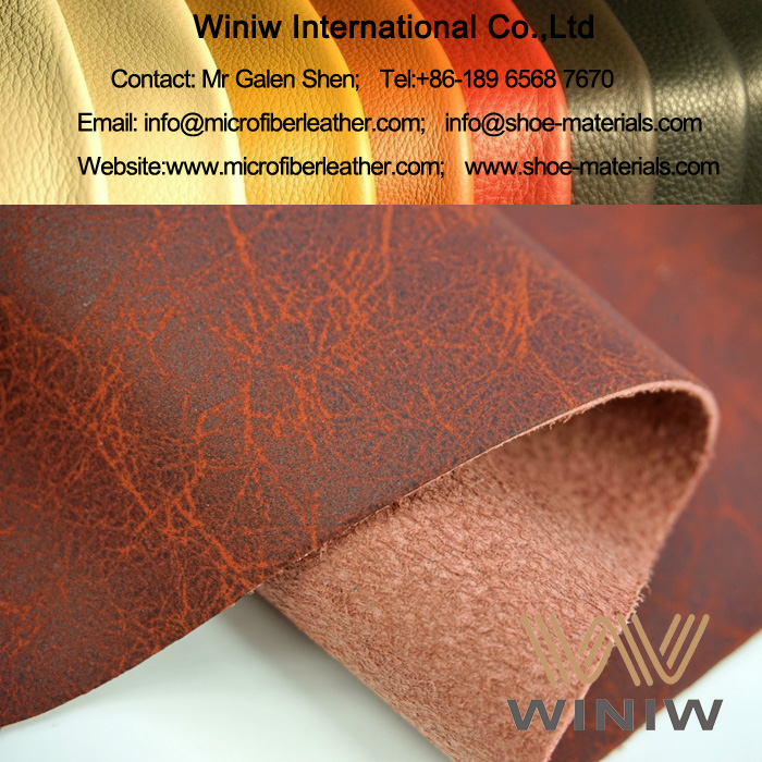 PU Microfiber Leather Upholstery Fabric for Antique Sofa Furniture