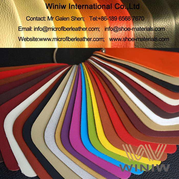 PU Synthetic Nappa Leather Fabric Material for Cars