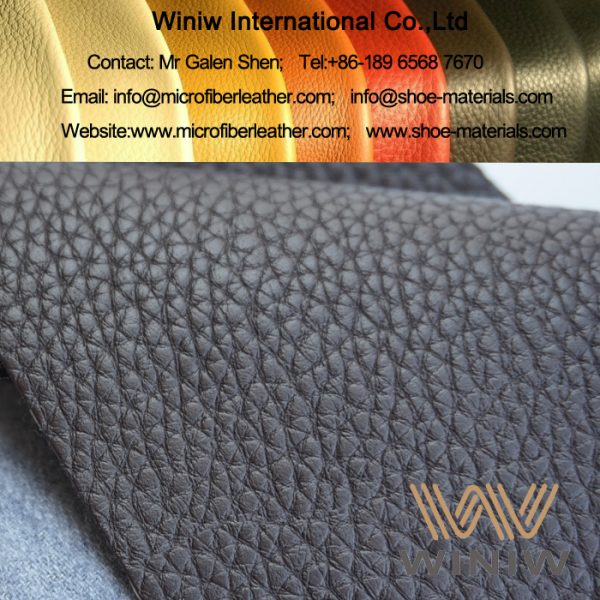 Synthetic Cowhide Microfiber Leather for Furniture Upholstery