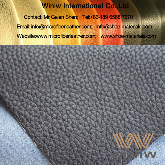 Embossed Microfiber Leather for Upholstery