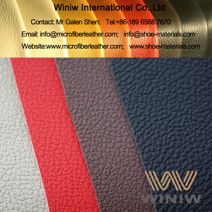 Deep Embossed PU Microfiber Synthetic Leather