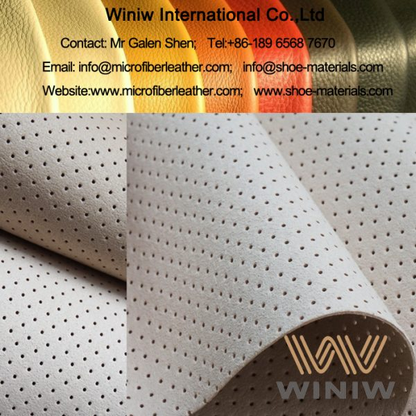 Perforated Absorption Microfiber Lining for Footwear