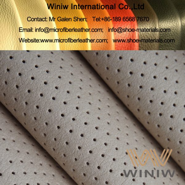 Perforated Microfiber Leather Shoes Lining