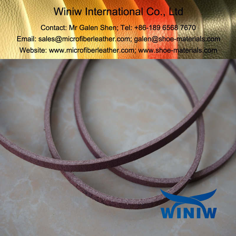 Microfiber Leather for Shoe Laces 001