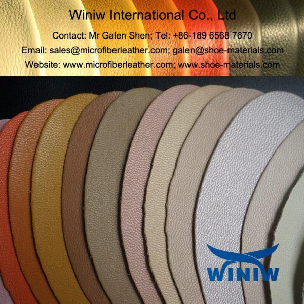 Microfiber Leather in Pigskin/Cowskin/Goatskin Pattern