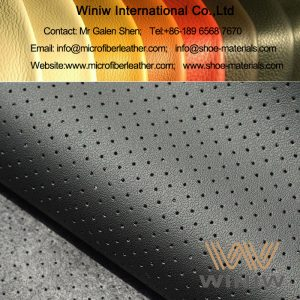 perforated auto leather nappa leather