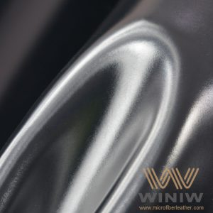 Shiny Black PU Synthetic Leather for Army Shoes