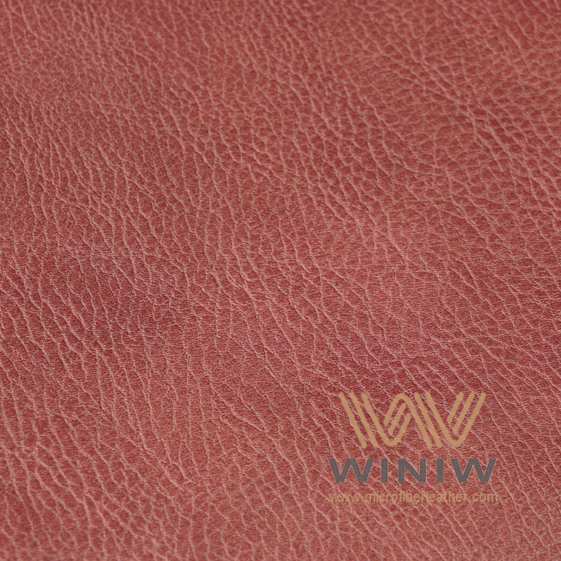 Red color Water Based PU Synthetic Leather