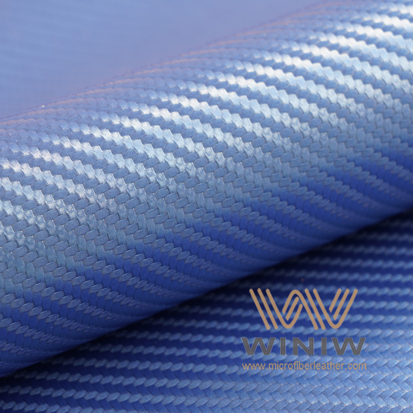 Carbon Fiber Look Vinyl Automotive Upholstery Leather Fabric