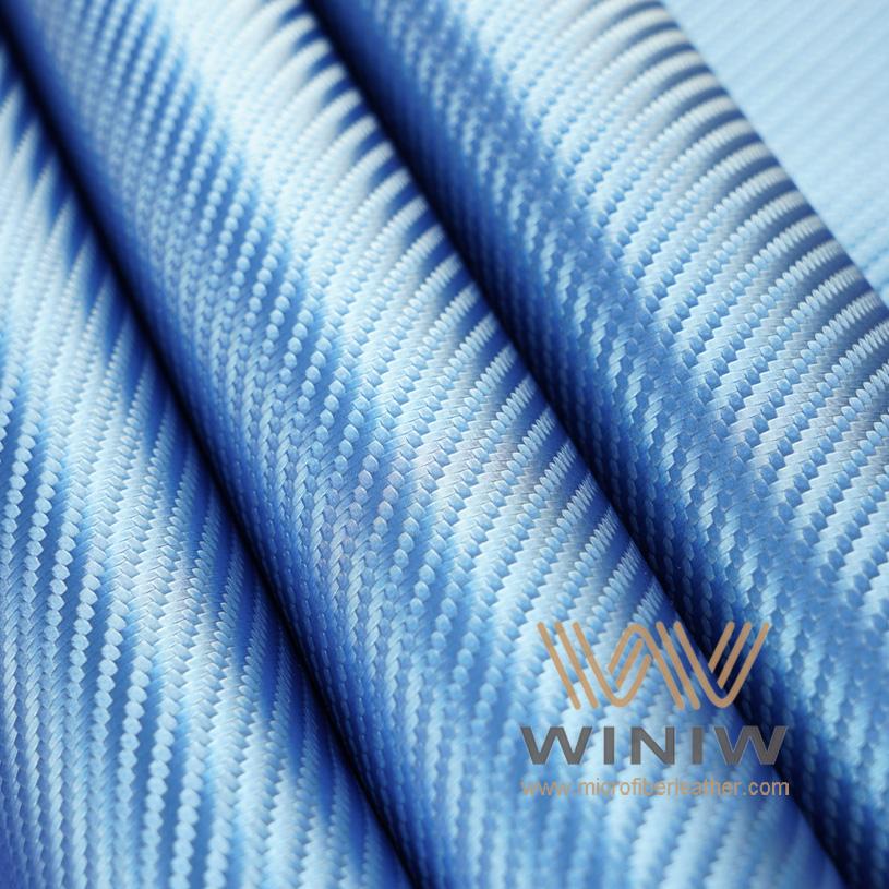 Carbon Fiber Look Vinyl Automotive Upholstery Leather