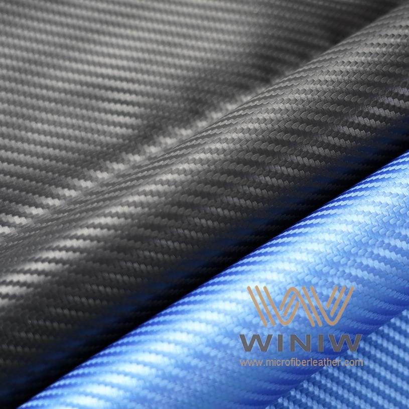 Carbon Fiber Look Vinyl Automotive Leather Fabric