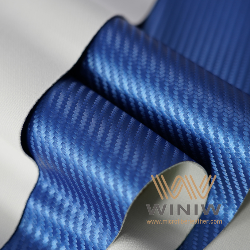 Carbon Fiber Look Vinyl Automotive Upholstery Fabric